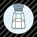 bottle, cooking, food, ingredient, kitchen, salt, shaker icon