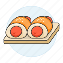bakery, bread, bun, fast, fastfood, fat, food, junk, roll, sausage icon