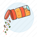bottle, complete, cooking, food, ingredient, kitchen, seasoning, spice icon