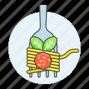 basil, food, fork, italian, meals, meatball, spaghetti icon