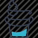 cream, spoon, sour, bucket, dairy, food icon