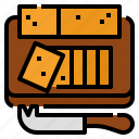 cheddar, cattle, food, cheese icon