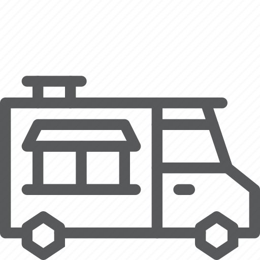 food, mobile, nourishment, treat, trolley, truck, vehicle icon