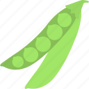 food, green peas, healthy diet, pea pods, vegetable icon