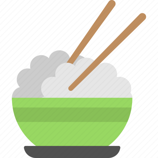 boiled rice, food, healthy diet, meal, nutrition icon