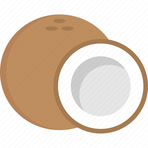 coconut, fruit, healthy diet, organic food, tropical fruit icon