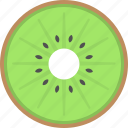 exotic fruit, food, healthy diet, kiwi icon