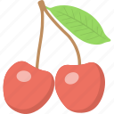 berries, cherry, fruit, healthy eating, nutrition icon