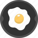 breakfast, fried egg, omelette, poultry food, protein icon