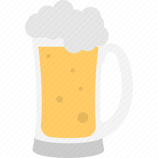 Chilled beer, beer mug, alcohol, drink, champagne icon