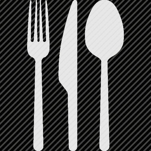 Fork, restaurant sign, kitchenware, cutlery, knife icon - Download