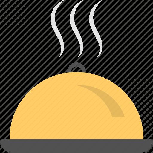 dinner, dishware, food serving, platter, restaurant cloche icon