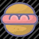 bread, cooking, food, hamburger icon