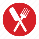 eat, food, fork and knife, gourmet, kitchen, meal, restaurant icon