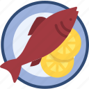 dish, fish, food, nonveg icon