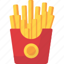 chips, food, french, fries, potato, snacks icon