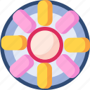 food, rolls, snack icon