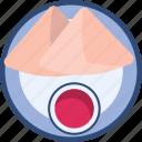 food, indian, samosa, snacks icon