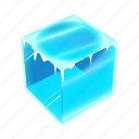cold, cube, ice, solid, water, weather, winter
