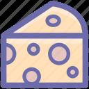 breakfast, cheese, eat, edam, food, slice, swiss icon