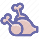 broasted chicken, chicken, food, hot wings, meat, roast, roasted, roasted chicken, turkey icon