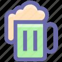 alcohol, bar, beer, drinking, food, mug, oktoberfest, tankard icon
