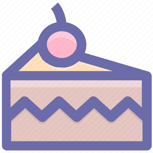 Cake, cake piece, cake slice, cherry, dessert, food, fresh cake icon - Download on Iconfinder
