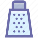 food, grater, kitchen, nutrition, summer, tools, utensils icon