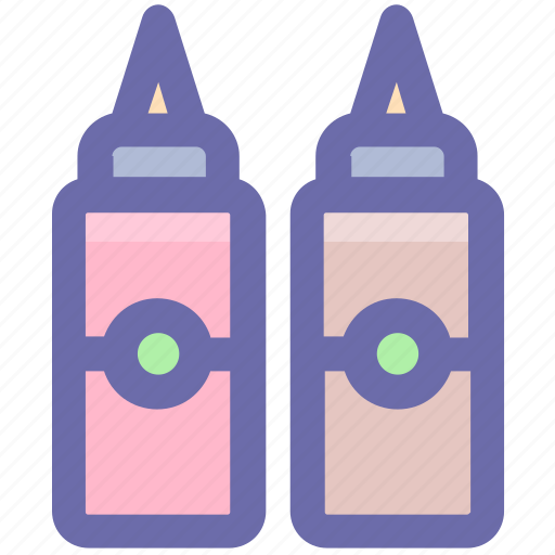 Bottle, culinary, ketchup, ketchup bottle, ketchup bottles, mustard, sauce icon - Download on Iconfinder