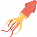 animal, cuttlefish, seafood, squid, wildlife icon