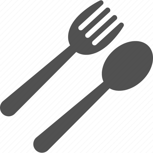cutlery, fork, kitchenware, knife, restaurant sign icon
