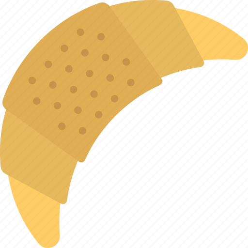 bakery item, croissant, food, puff pastry, sweet snack icon