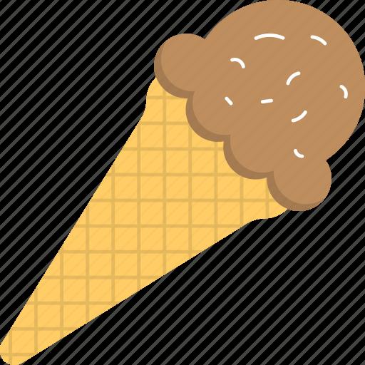 chocolate ice cream, dessert, food, frozen food, sweet icon