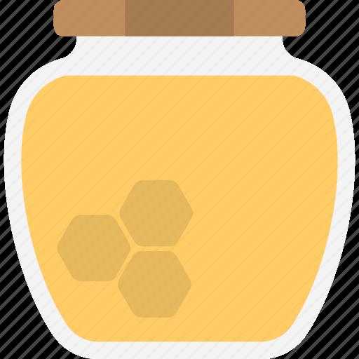 healthy food, honey jar, nutritions, organic diet, sweetener icon