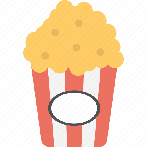 cinema snacks, maize corn, popcorn, snacks, takeaway food icon