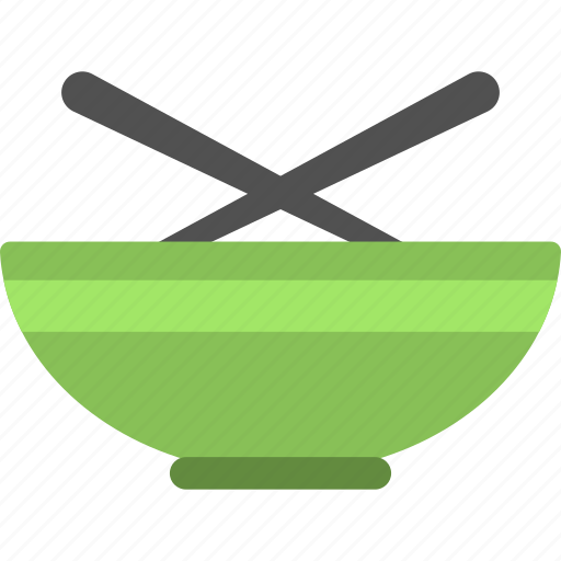 bowl with spoons, food container, kitchenware, tableware, utensils icon