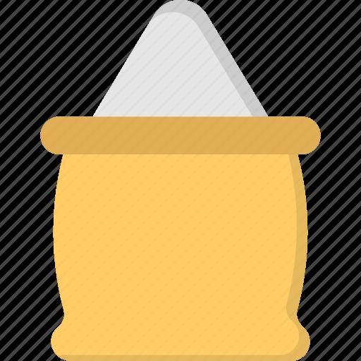 Healthy goods, food storage, rice sack, sugar sack, bag of rice icon