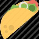 fajita roll, fast food, meal, sandwich wrap, tortilla wrap icon