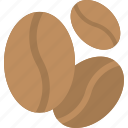 beverage, caffeine, coffee beans, organic food, seeds icon