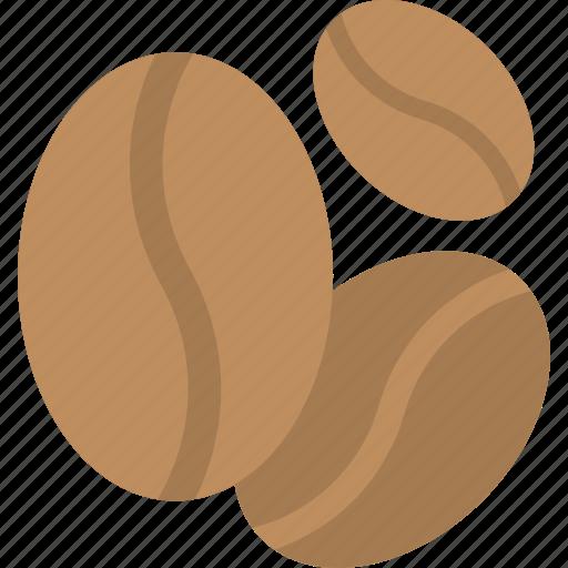 beverage, caffeine, coffee beans, organic food, seeds icon