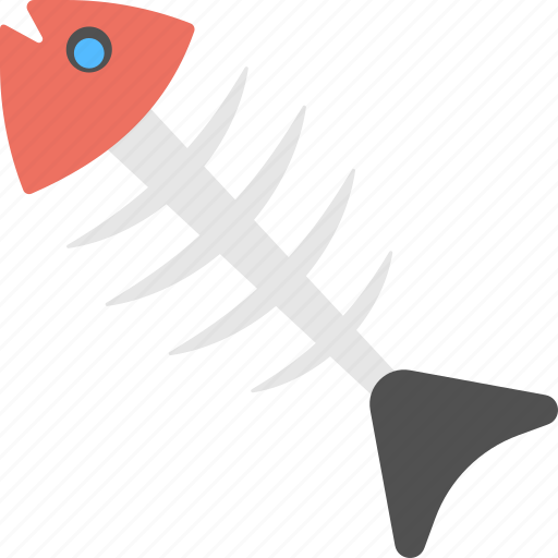 dead sign, fish skeleton, fish spine, fishbone, fishing food icon