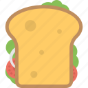 baguette, club sandwich, fast food, sandwich bread, snack icon