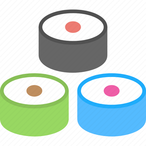 healthy food, meat, seafood, sliced fish, sushi icon