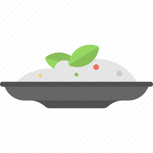food, healthy diet, meal, nutrition, rice plate icon