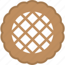 bakery food, confectionery, dessert, pie, sweet snacks icon
