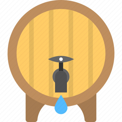 home accessory, water container, water storage, water tank, wooden cooler icon