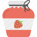 berries confiture, food mason, jam bottle, marmalade jar, strawberry jam icon