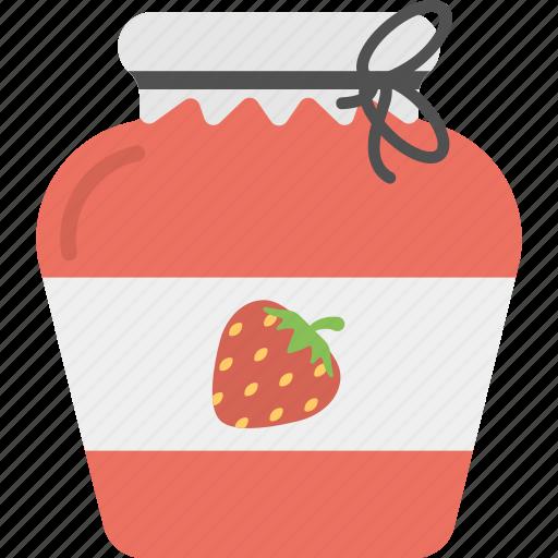 berries confiture, food mason, jam bottle, marmalade jar, strawberry jam icon