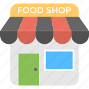 food court, food shop, grocery shop, shopping store, supermarket icon