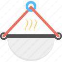 cooking in cauldron, culinary, food cooking, food preparation, outdoor camping icon